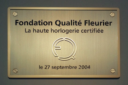Inauguration of the Fleurier Quality Foundation